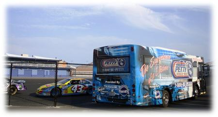 Petty nascar driving experience bus