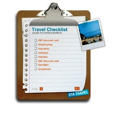 Create A Detailed Travel List For Your Holidays