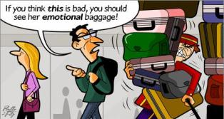 travel packing cartoon