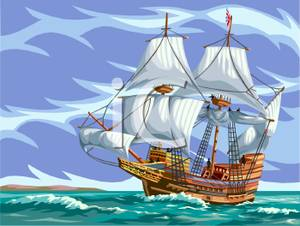 Sailing Rough Seas Clipart