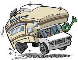 motorhome driving clipart
