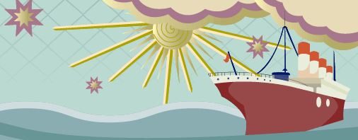 Cruise Ship Travel Banner
