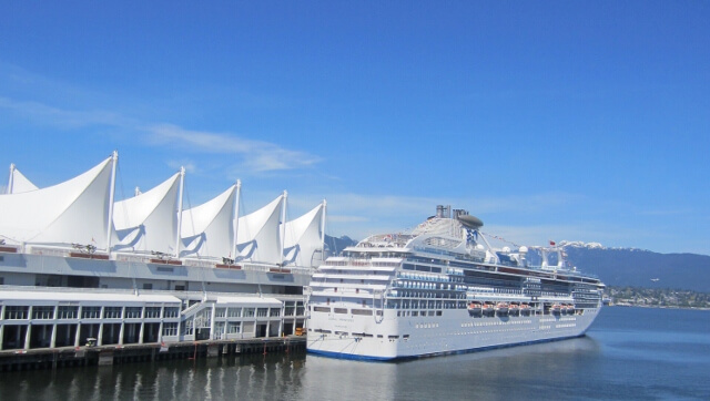 Cruise Ship in Vancouver BC