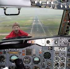 Kids screaming on plane