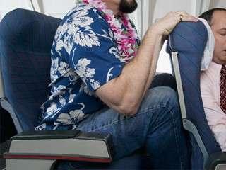 rude passenger on airplane