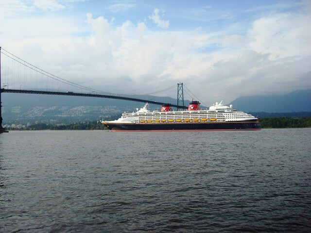 Disney Cruise Ship Vancouver BC