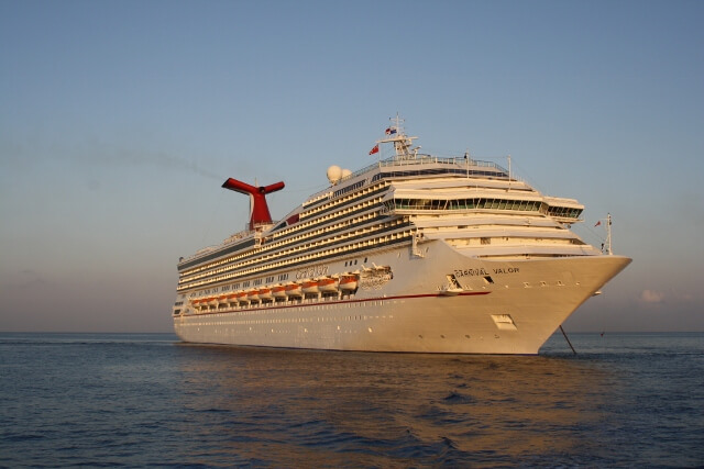 Carnival Valor Cruise Ship Anchored