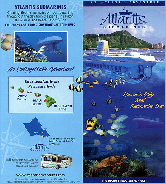 Atlantis Submarine Tour Brochure