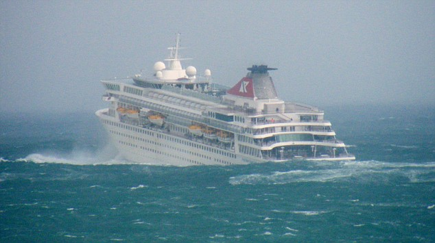 Cruise Ship in Rough Seas