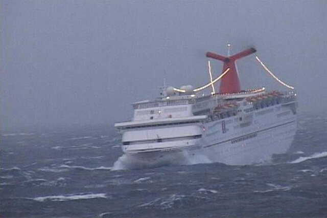 Cruise Ship in Storm