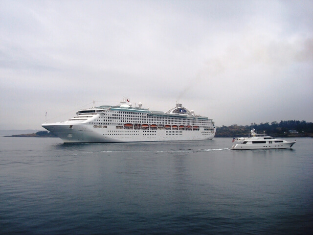 Princesss Cruise Ship Victoria BC