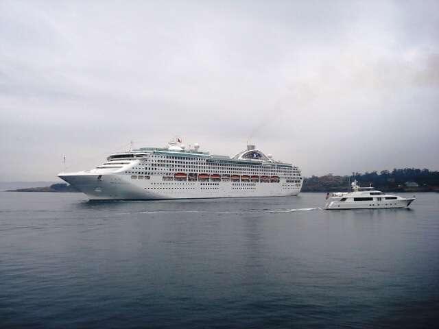 Princesss Cruise Ship Victoria BC