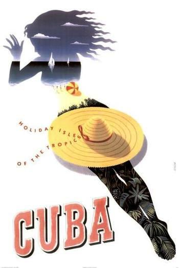 Old Cuba Holiday Poster