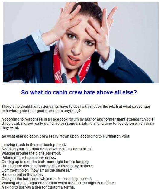 Flight Crew Pet Peeves