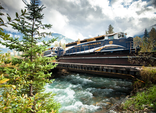 Rocky Mountaineer in Lake Louise Alberta