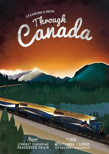 rocky mountaineer rail poster