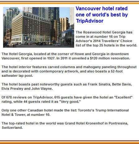 Hotel Georgia Vancouver BC