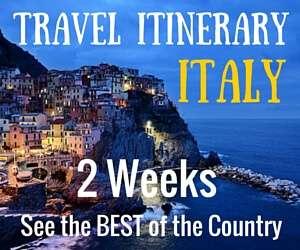 Travel Italy Itinerary