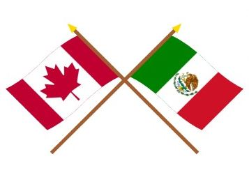 Canada Mexico Flags
