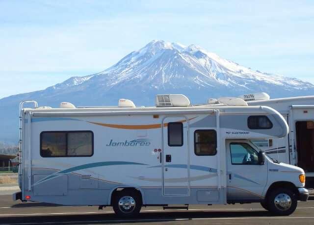 RV Camping Class C Motorhome