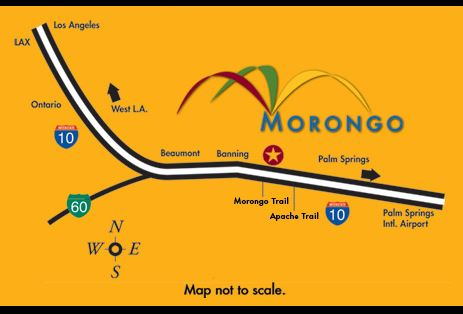 Map to Morongo Casino Resort