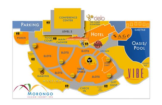 Morongo Resort Map