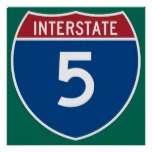 Interstate 5 Highway Sign