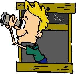 Observer With Binoculars