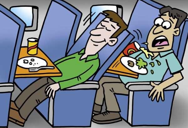 Airplane Reclining Seat Cartoon