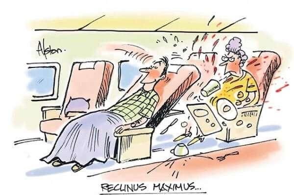 Airplane Seat Cartoon