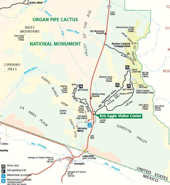 Organ Pipe National Park Map