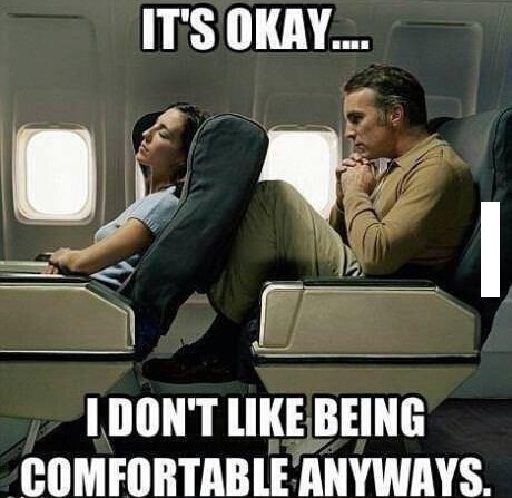 Reclining Airplane Seats