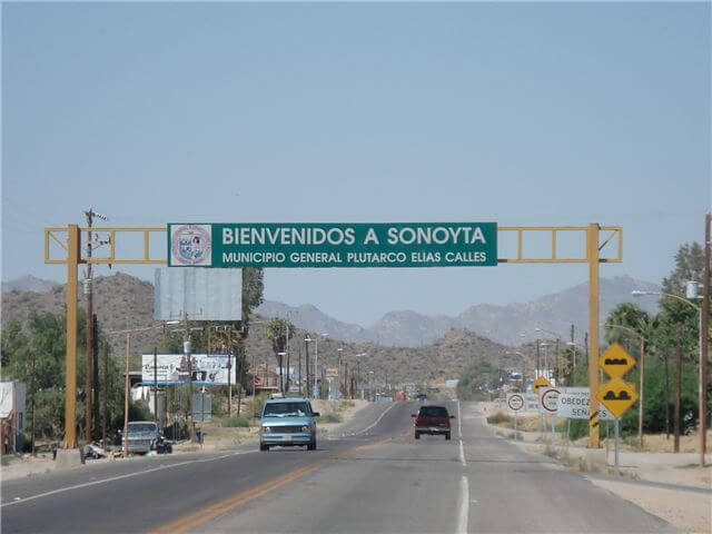 Sonoyta Mexico Welcome Sign
