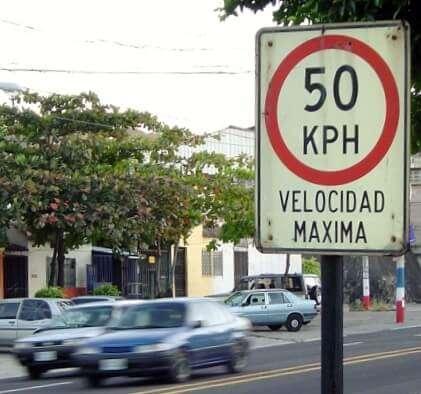 spanish speed limit sign