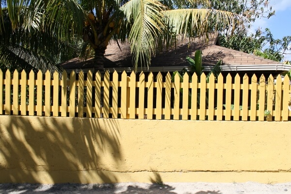 Colorful Fence in the Caribbean