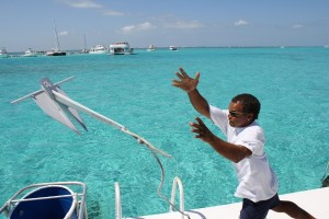 Throwing Anchor in the Bahamas