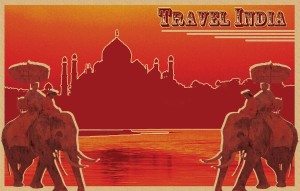 Old India Travel Poster