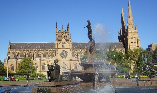 Hyde Park Fountain Sydney Australia
