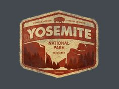 Yosemite National Park Vintage Sign
