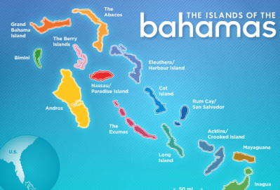 Bahamas Islands Map