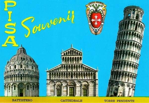 Pisa Italy Postcard