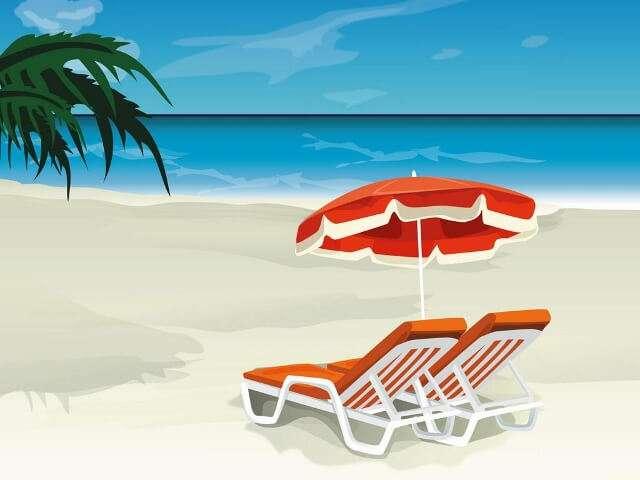 beach chairs clipart