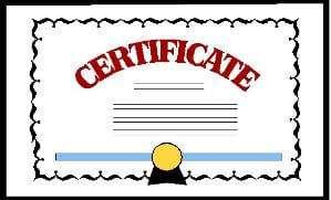 clipart certificate