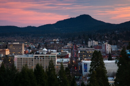 Eugene Oregon Skyline
