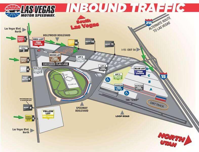 Las Vegas Motor Speedway Map