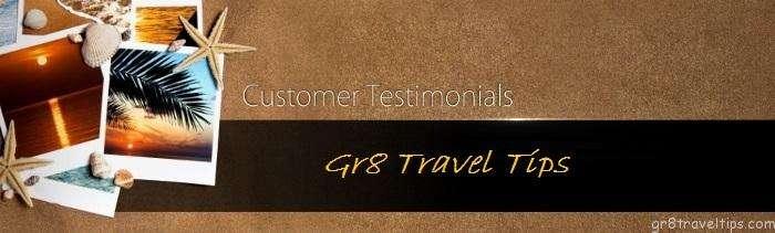 Gr8 Travel Tips Sponsor Testimonials
