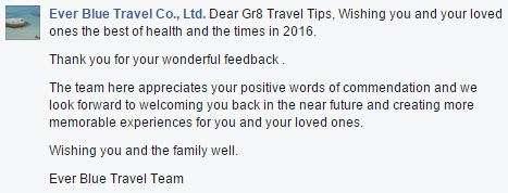 Ever Blue Travel Testimonial