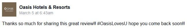 Oasis Hotel Review