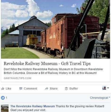 Revelstoke Railway Museum Testimonial