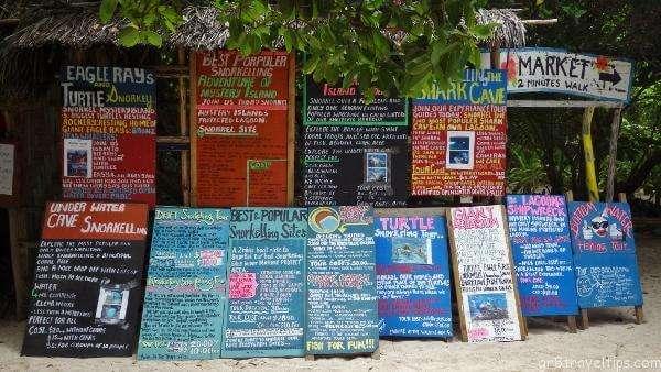 Tour Signs Mystery Island Vanuatu